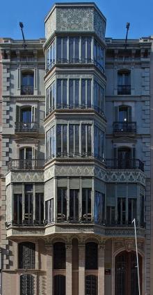 façade du Palau Baró de Quadras